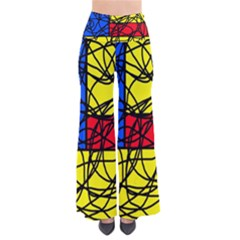 Yellow Abstract Pattern Pants by Valentinaart