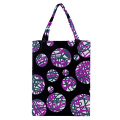Purple Decorative Design Classic Tote Bag by Valentinaart