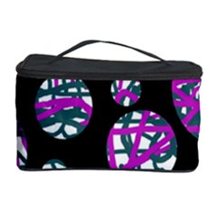 Purple Decorative Design Cosmetic Storage Case by Valentinaart