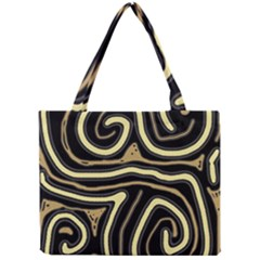 Brown Elegant Abstraction Mini Tote Bag by Valentinaart