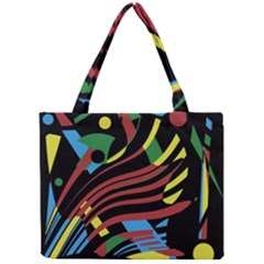 Colorful Decorative Abstrat Design Mini Tote Bag by Valentinaart