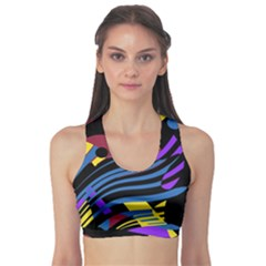 Decorative Abstract Design Sports Bra by Valentinaart