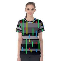 Colorful Pattern Women s Cotton Tee by Valentinaart