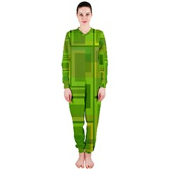 Green Pattern Onepiece Jumpsuit (ladies)  by Valentinaart