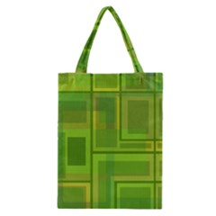 Green Pattern Classic Tote Bag by Valentinaart