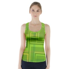 Green Pattern Racer Back Sports Top by Valentinaart
