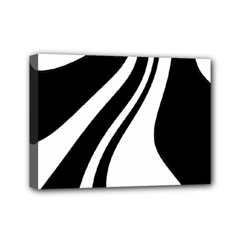Black And White Pattern Mini Canvas 7  X 5  by Valentinaart