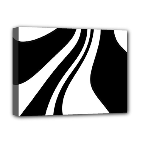 Black And White Pattern Deluxe Canvas 16  X 12   by Valentinaart