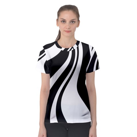 Black And White Pattern Women s Sport Mesh Tee by Valentinaart