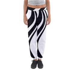 Black And White Pattern Women s Jogger Sweatpants by Valentinaart