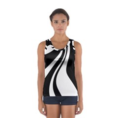 Black And White Pattern Women s Sport Tank Top  by Valentinaart