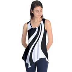 Black And White Pattern Sleeveless Tunic by Valentinaart