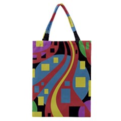 Colorful Abstrac Art Classic Tote Bag by Valentinaart
