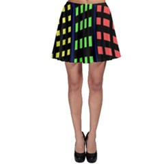 Colorful Abstract City Landscape Skater Skirt by Valentinaart