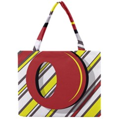 Red And Yellow Design Mini Tote Bag by Valentinaart
