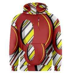 Red And Yellow Design Men s Pullover Hoodie by Valentinaart