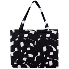 Black And White Pattern Mini Tote Bag by Valentinaart