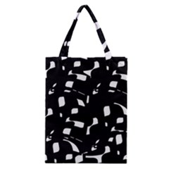 Black And White Pattern Classic Tote Bag by Valentinaart