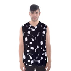 Black And White Pattern Men s Basketball Tank Top by Valentinaart