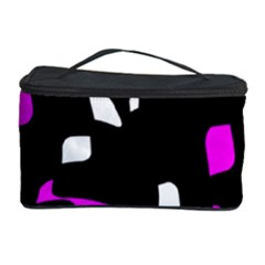Magenta, Black And White Pattern Cosmetic Storage Case by Valentinaart
