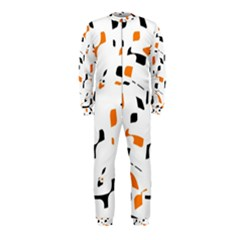 Orange, White And Black Pattern Onepiece Jumpsuit (kids) by Valentinaart