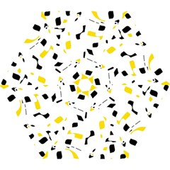 Yellow, Black And White Pattern Mini Folding Umbrellas by Valentinaart