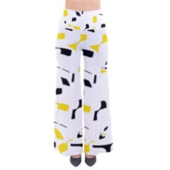 Yellow, Black And White Pattern Pants by Valentinaart