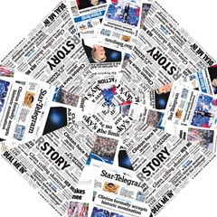 Hillary 2016 Historic Newspaper Collage Umbrella by blueamerica