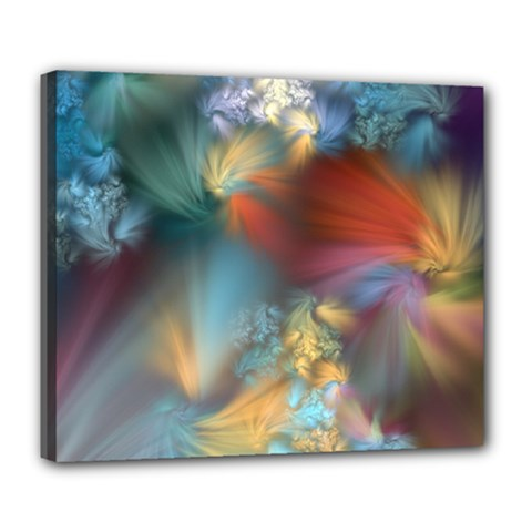 More Evidence Of Angels Deluxe Canvas 24  X 20   by WolfepawFractals