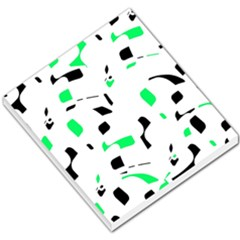 Green, Black And White Pattern Small Memo Pads