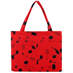 Red And Black Pattern Mini Tote Bag by Valentinaart