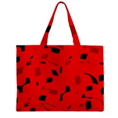 Red And Black Pattern Zipper Mini Tote Bag by Valentinaart
