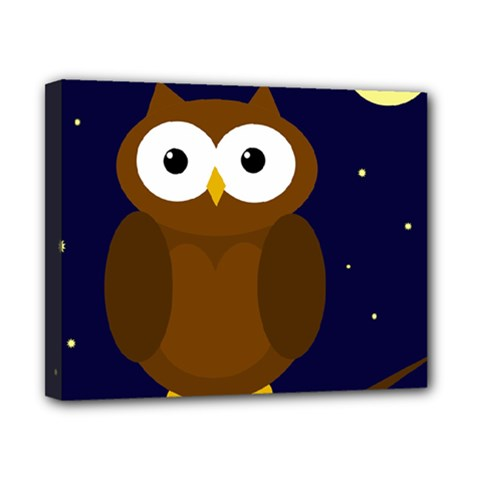 Cute Owl Canvas 10  X 8  by Valentinaart