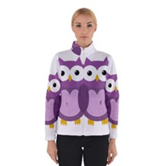 Purple Transparetn Owl Winterwear by Valentinaart
