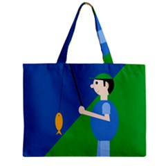 Fisherman Zipper Mini Tote Bag by Valentinaart