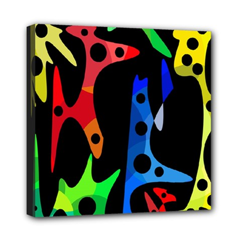 Colorful Abstract Pattern Mini Canvas 8  X 8  by Valentinaart