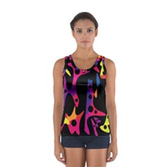 Colorful Pattern Women s Sport Tank Top  by Valentinaart