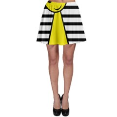Yellow Pawn Skater Skirt by Valentinaart