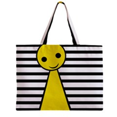 Yellow Pawn Zipper Mini Tote Bag by Valentinaart