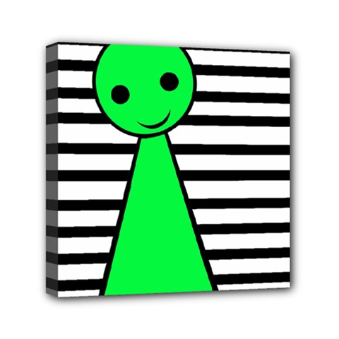 Green Pawn Mini Canvas 6  X 6  by Valentinaart