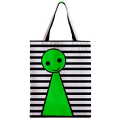 Green Pawn Zipper Classic Tote Bag by Valentinaart