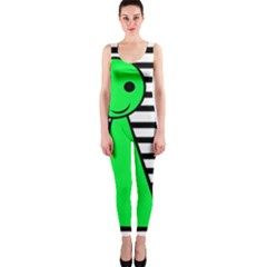 Green Pawn Onepiece Catsuit by Valentinaart