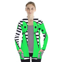 Green Pawn Women s Open Front Pockets Cardigan(p194)