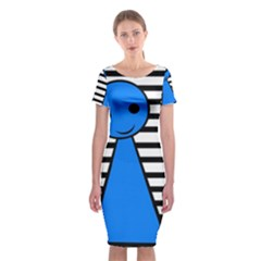 Blue Pawn Classic Short Sleeve Midi Dress by Valentinaart