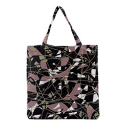 Artistic Abstract Pattern Grocery Tote Bag by Valentinaart