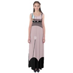 Abstract Design Empire Waist Maxi Dress by Valentinaart