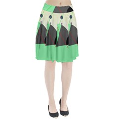 Decorative Abstract Design Pleated Skirt