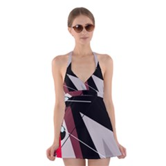 Artistic Abstraction Halter Swimsuit Dress by Valentinaart