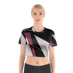 Artistic Abstraction Cotton Crop Top by Valentinaart