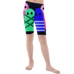 Three Monsters Kid s Mid Length Swim Shorts by Valentinaart